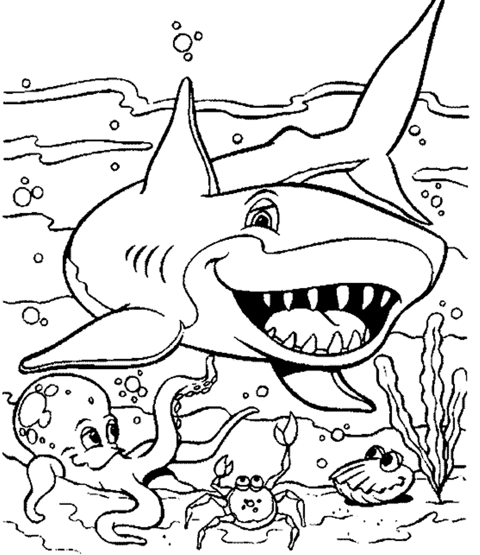 Coloring Pages : Free Coloring Pages Of Sea Animals And Creatures - Free Coloring Pages Animals Printable