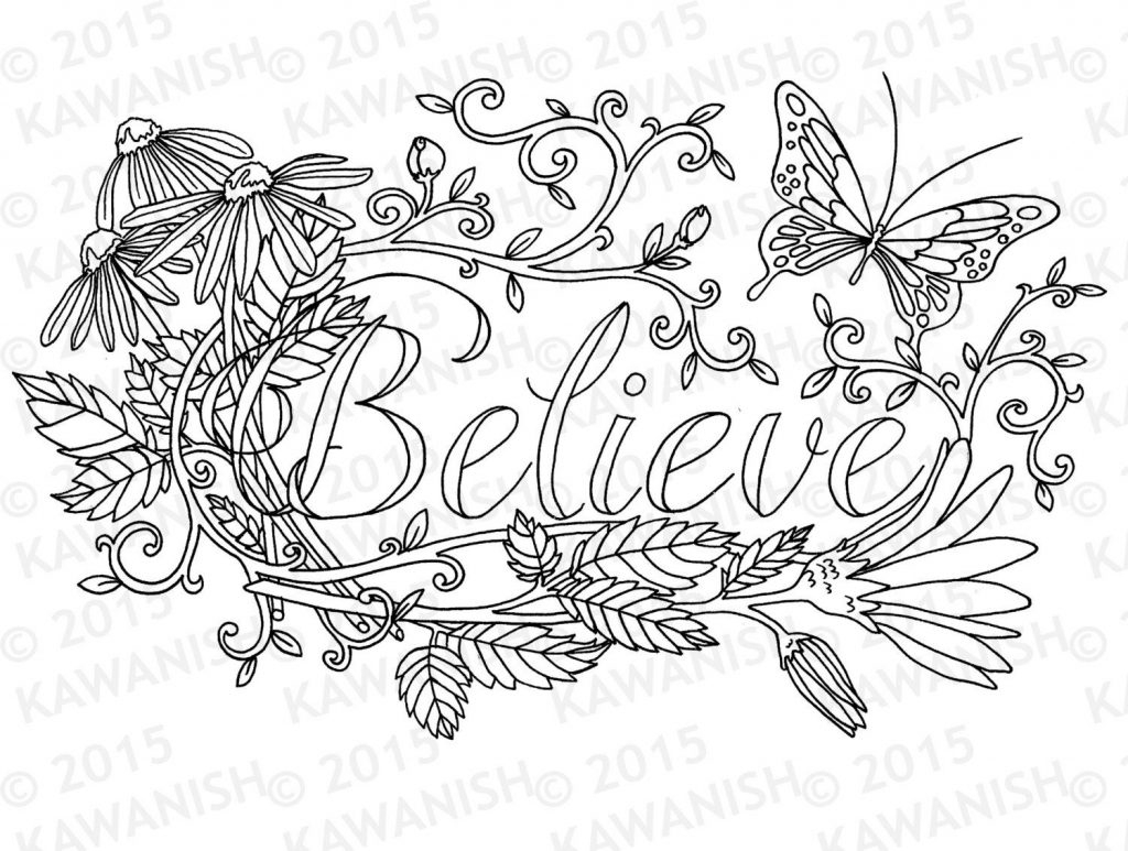 Coloring Pages ~ Free Printable Coloring Sheets Inspirational Quote - Free Printable Inspirational Coloring Pages