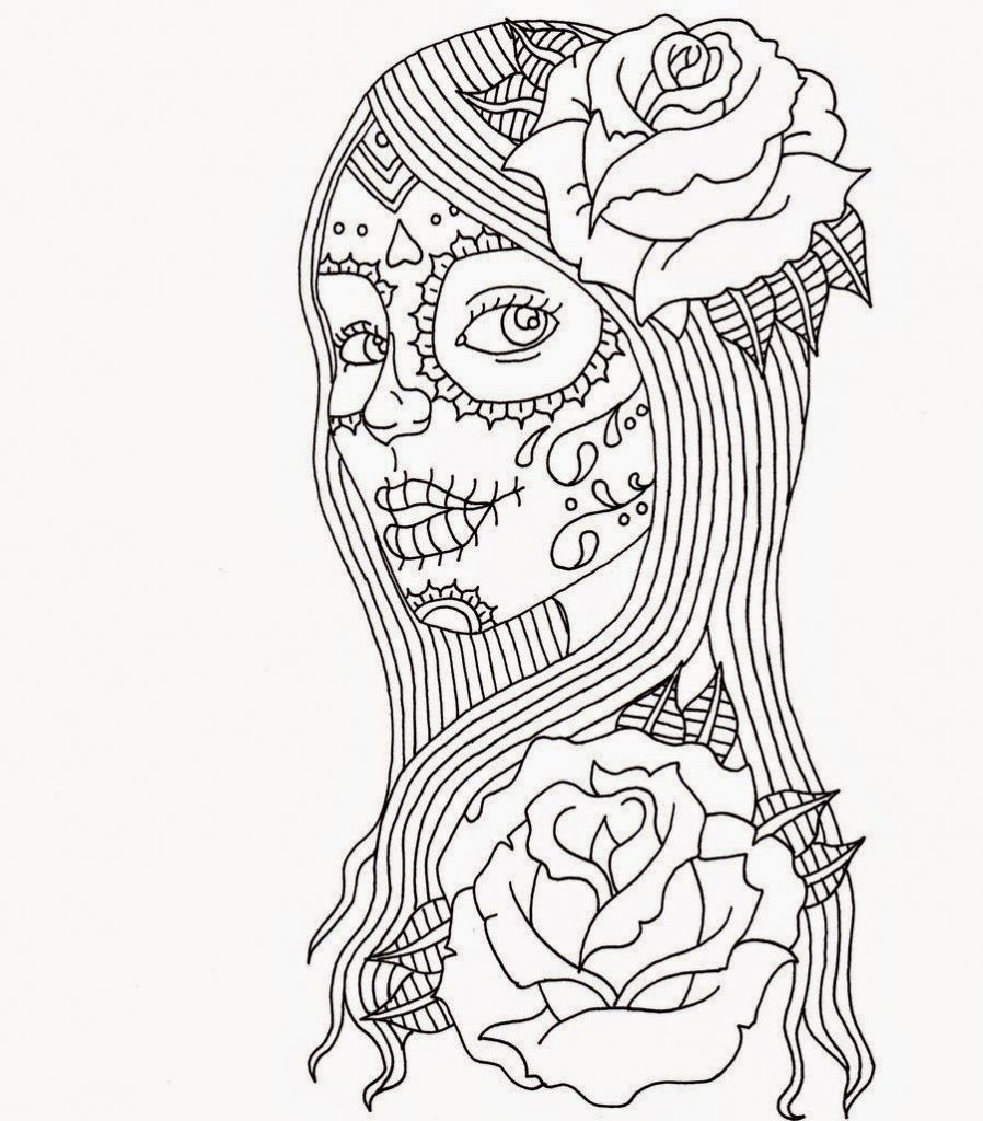 Coloring Pages ~ Free Printable Day Of The Coloring Pages Stunning - Free Printable Day Of The Dead Coloring Pages