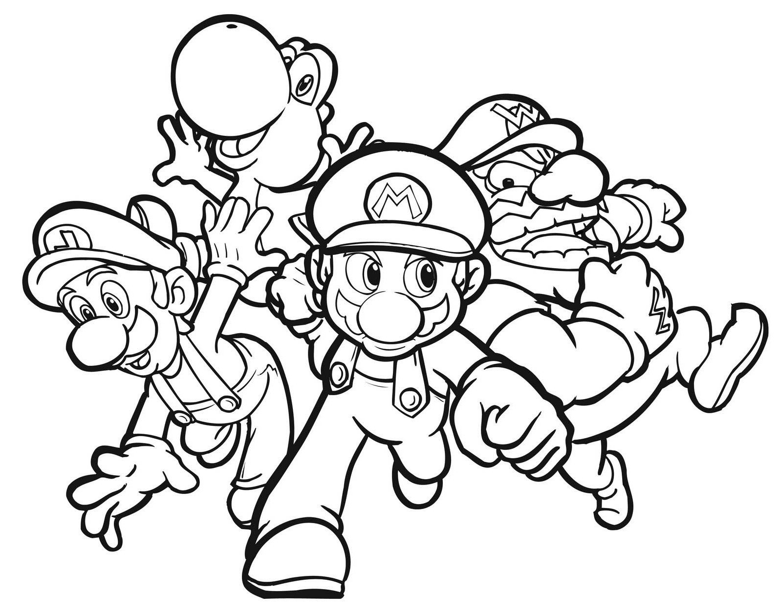 Coloring Pages : Free Printable Mario Coloring Pages At Getcolorings - Mario Coloring Pages Free Printable