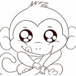 Coloring Pages : Free Printable Monkey Coloring Pages For Kids Pagee   Free Printable Monkey Coloring Sheets