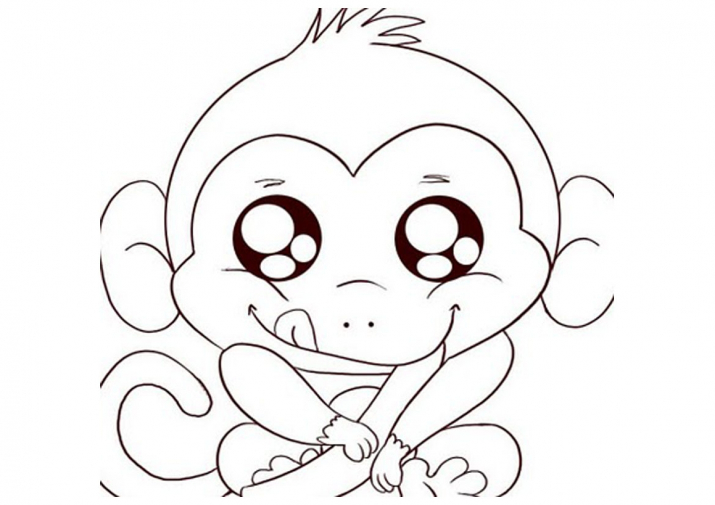 Coloring Pages : Free Printable Monkey Coloring Pages For Kids Pagee - Free Printable Monkey Coloring Sheets