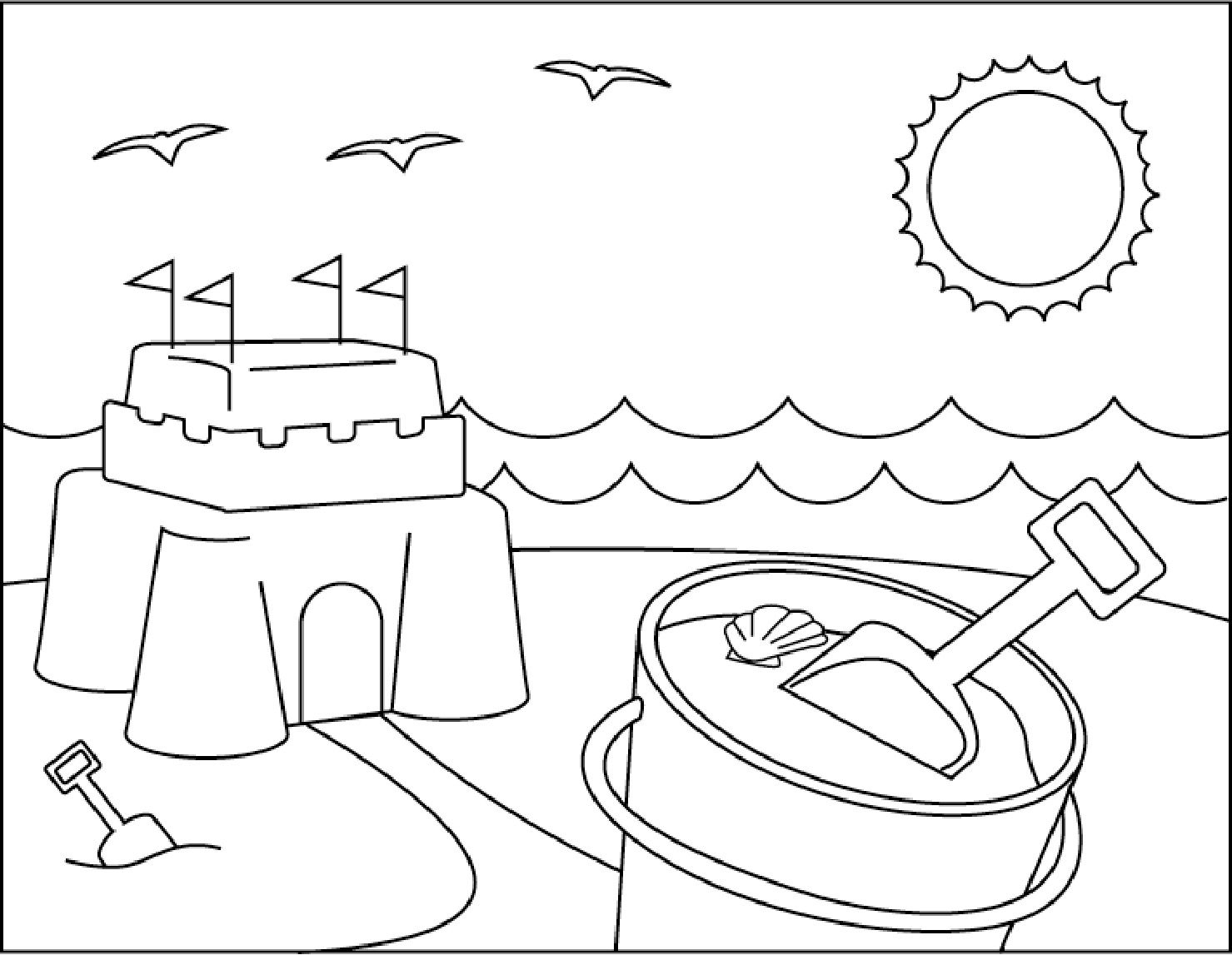 Coloring Pages : Free Printable Summer Coloringnumber Sheets - Free Printable Summer Coloring Pages
