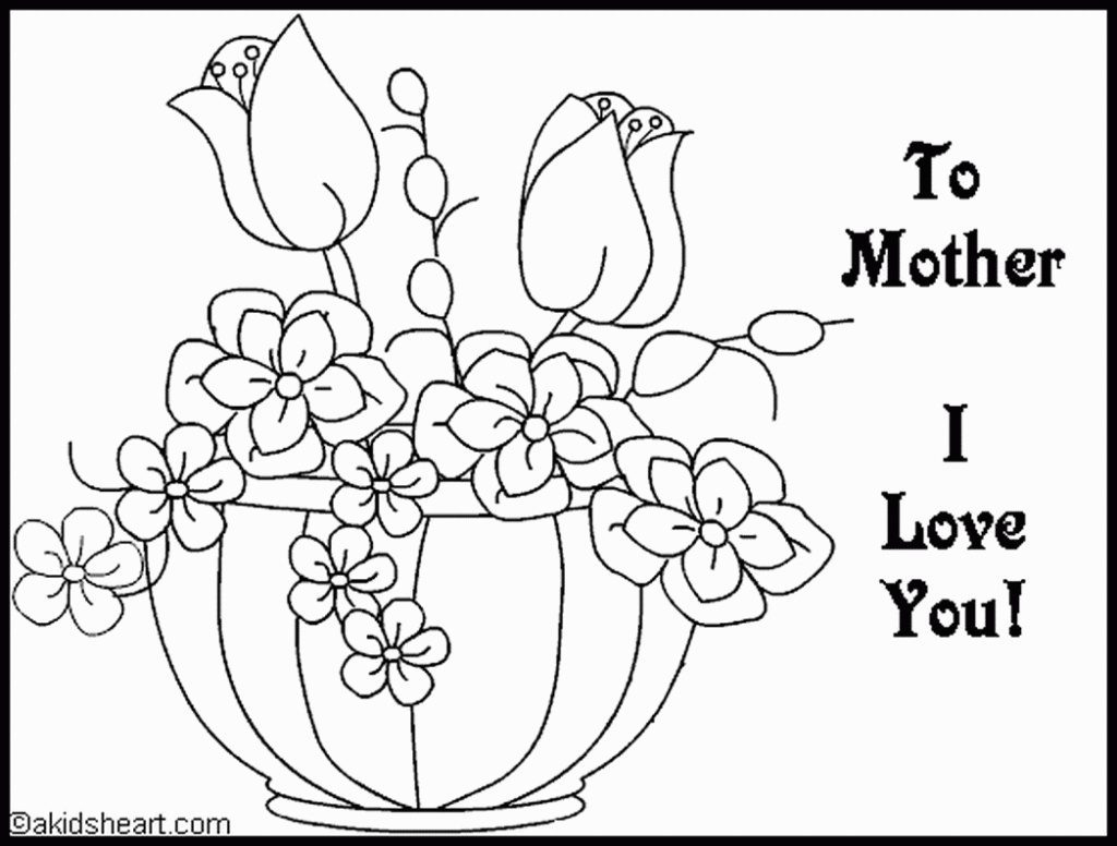 Coloring Pages ~ Free Printable Valentine Coloring Cards For Mokm - Free Printable Mothers Day Coloring Cards