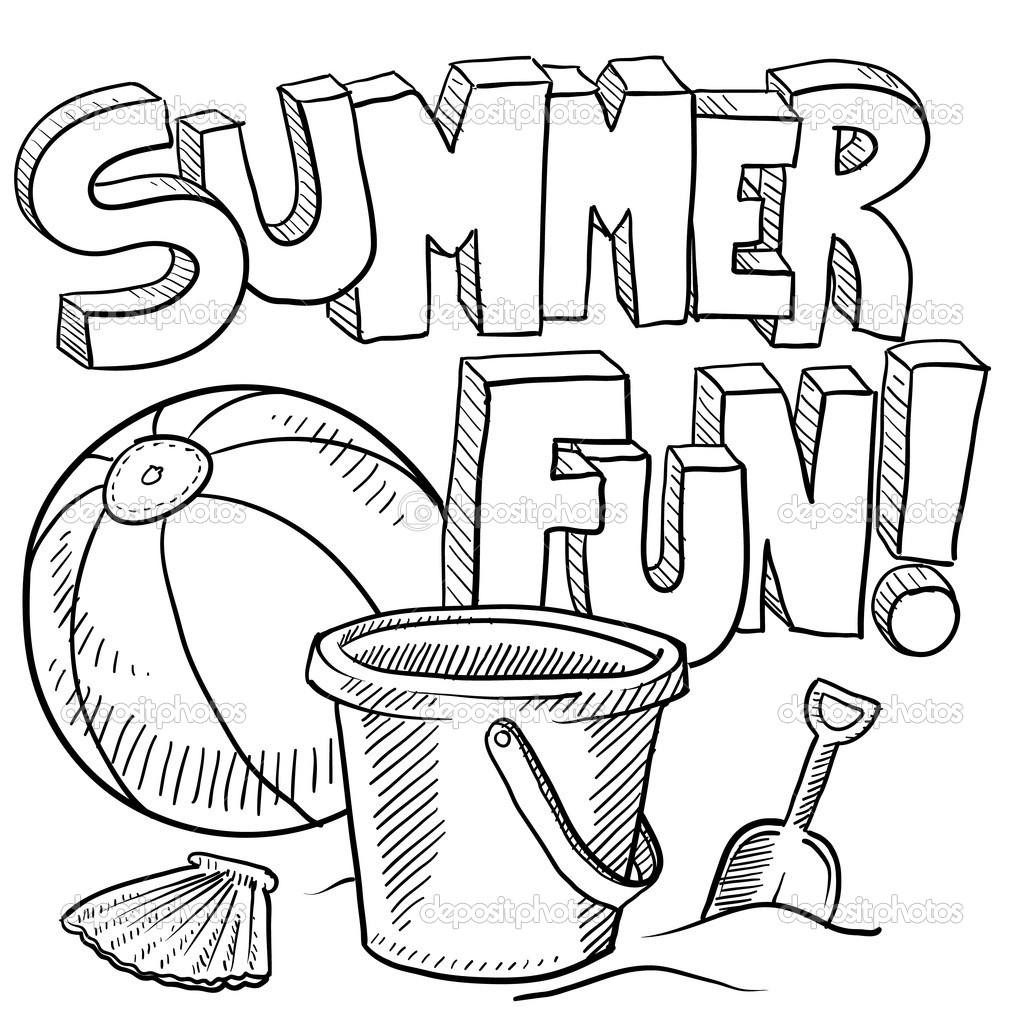 Coloring Pages : Free Summer Coloring Pages For Kids Printable Theme - Free Printable Summer Coloring Pages For Adults