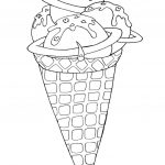 Coloring Pages ~ Ice Cream Cone Coloring Pages For Adults Kids   Ice Cream Cone Template Free Printable