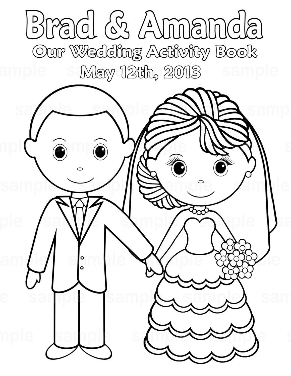 Coloring Pages : Kidsing Coloring Book Fantastic Pdfkids - Free Printable Personalized Wedding Coloring Book