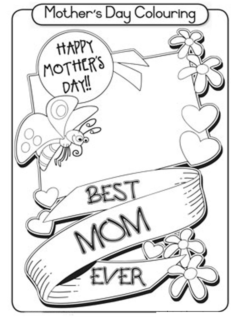 Coloring Pages ~ Mothers Day Coloring Pages Printable Cards Free - Free Printable Mothers Day Coloring Cards