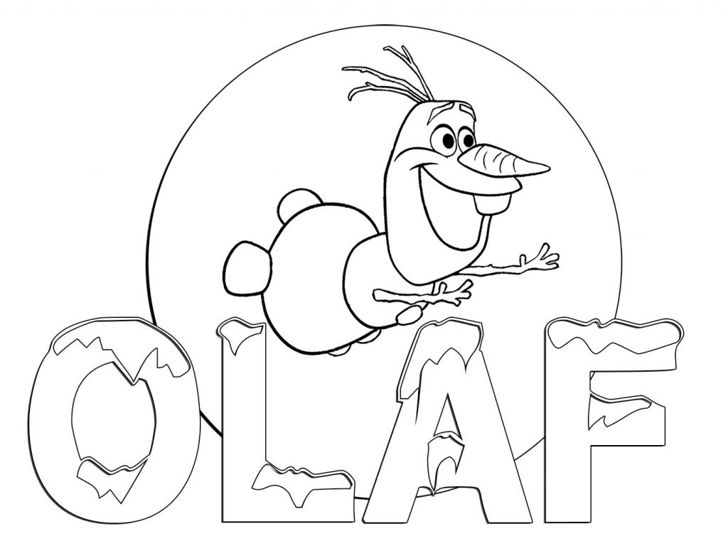 Coloring Pages : Olaf Coloring Page 1024X768 Staggering Freeble - Free Printable Coloring Pages Disney Frozen