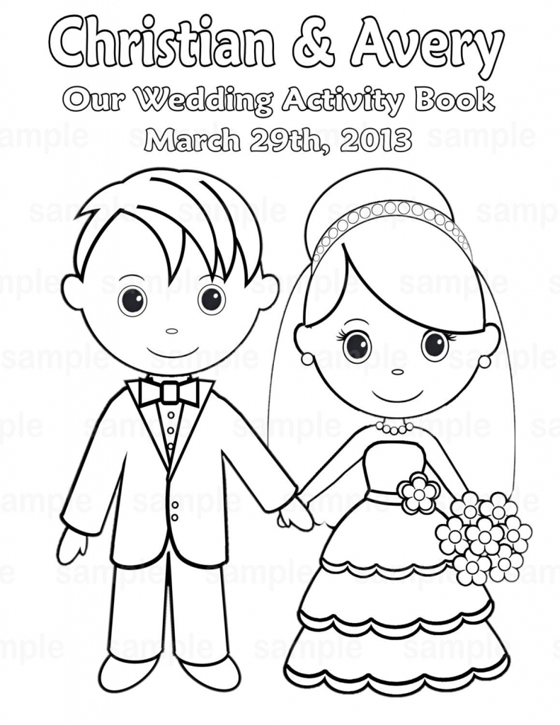 Coloring Pages ~ Personalized Wedding Coloring Book Image Ideas - Free Printable Personalized Wedding Coloring Book