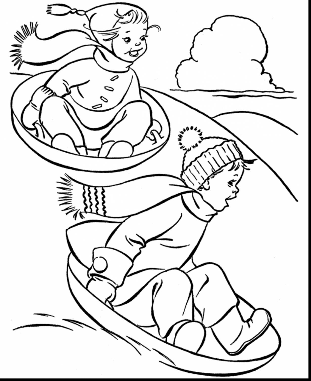 Coloring Pages : Printable Winterg Pages To Print And Color Free - Free Printable Winter Coloring Pages