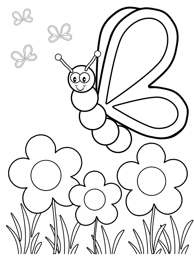 Coloring Pages ~ Top Free Printable Butterfly Coloring Pages - Free Printable Color Sheets For Preschool