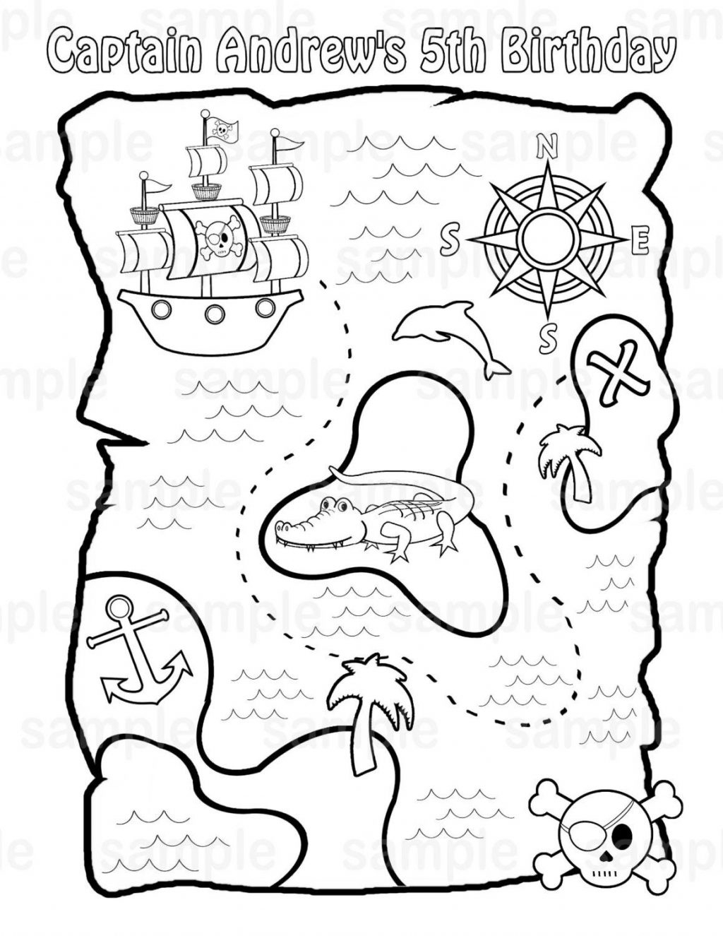 Coloring Pages ~ Treasure Map Coloring Pages Free Page Preschool - Free Printable Pirate Maps