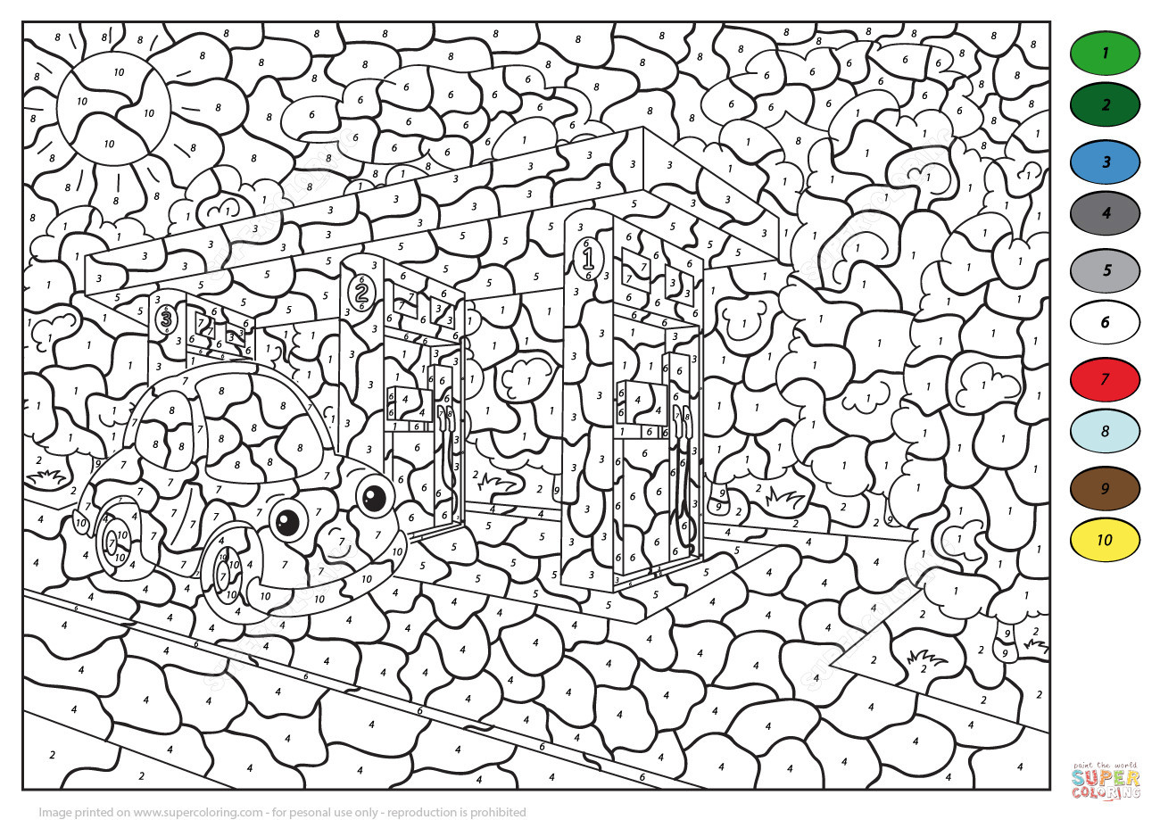 Colornumber For Adults 9 #27675 - Free Printable Color By Number For Adults