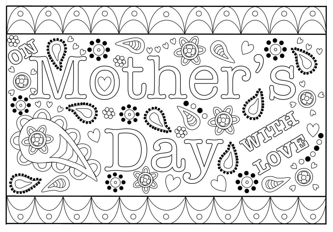Colouring Mothers Day Card Free Printable Template - Free Printable Mothers Day Coloring Cards