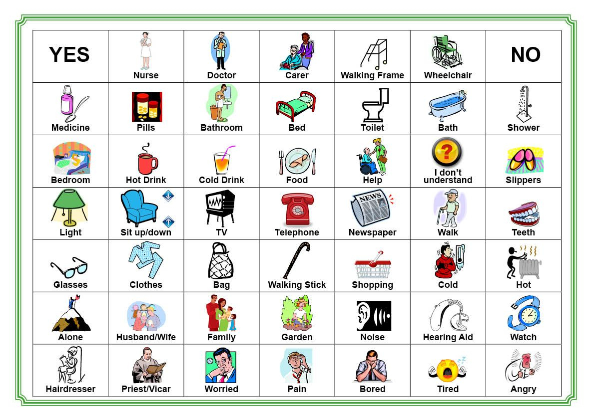 Communication Board For Stroke Victim   Communication Board Our - Free Printable Communication Boards For Adults