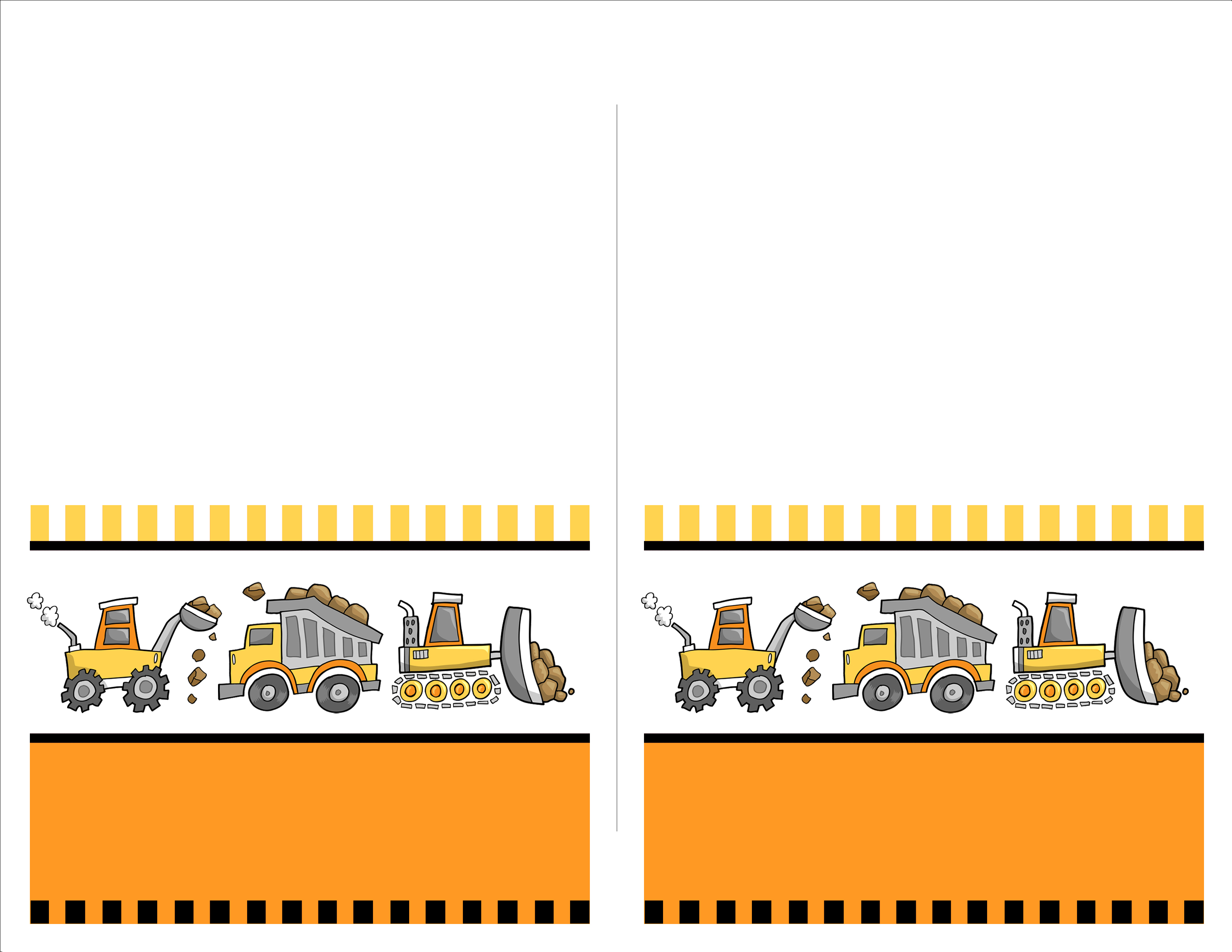 Construction Food Cards Simple Construction Birthday Invitations - Free Printable Construction Birthday Invitation Templates