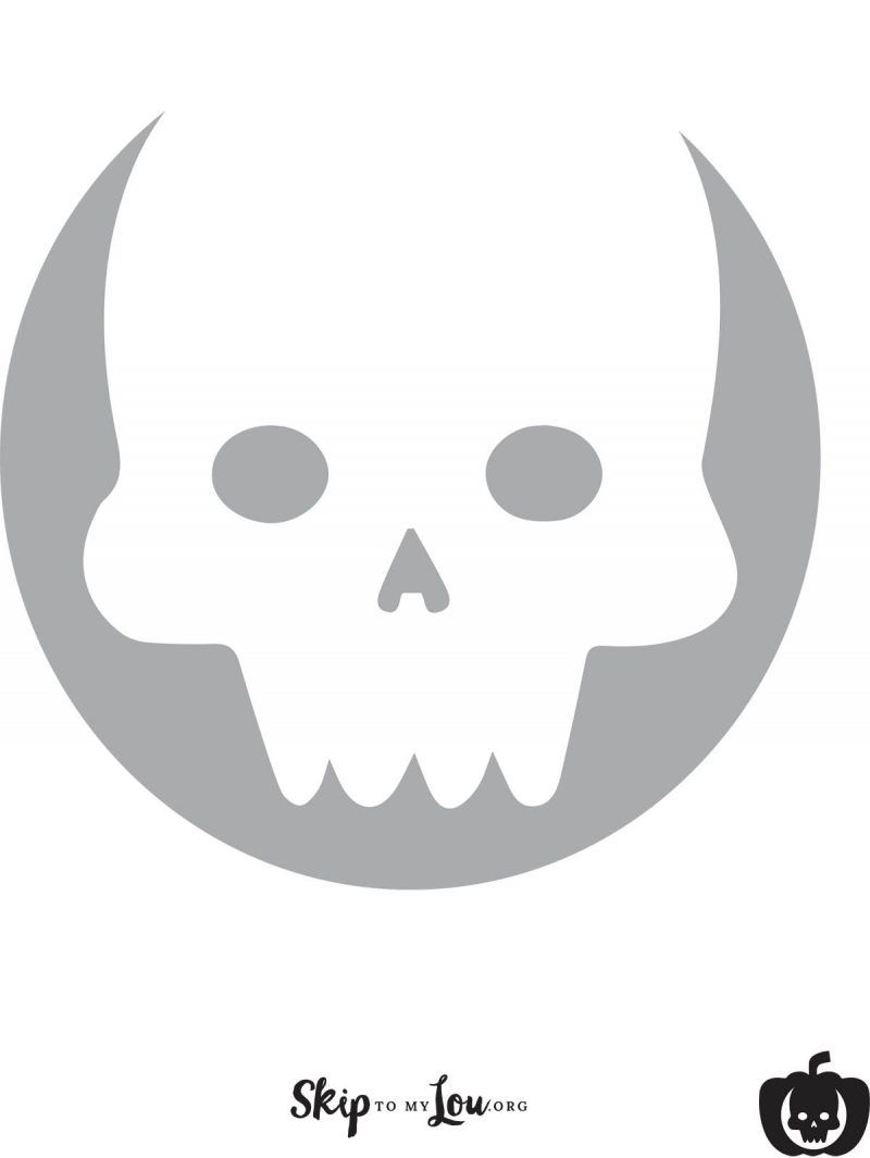 Cool Free Printable Pumpkin Carving Stencils | Halloween | Pinterest - Skull Stencils Free Printable