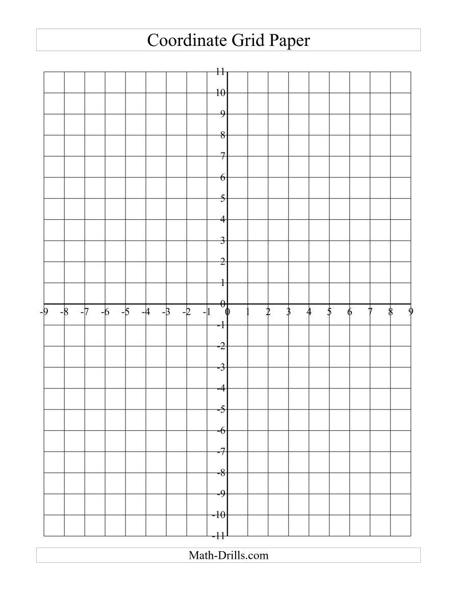 Coordinate Grid Paper (Large Grid) (A) - Free Printable Coordinate Grid Worksheets