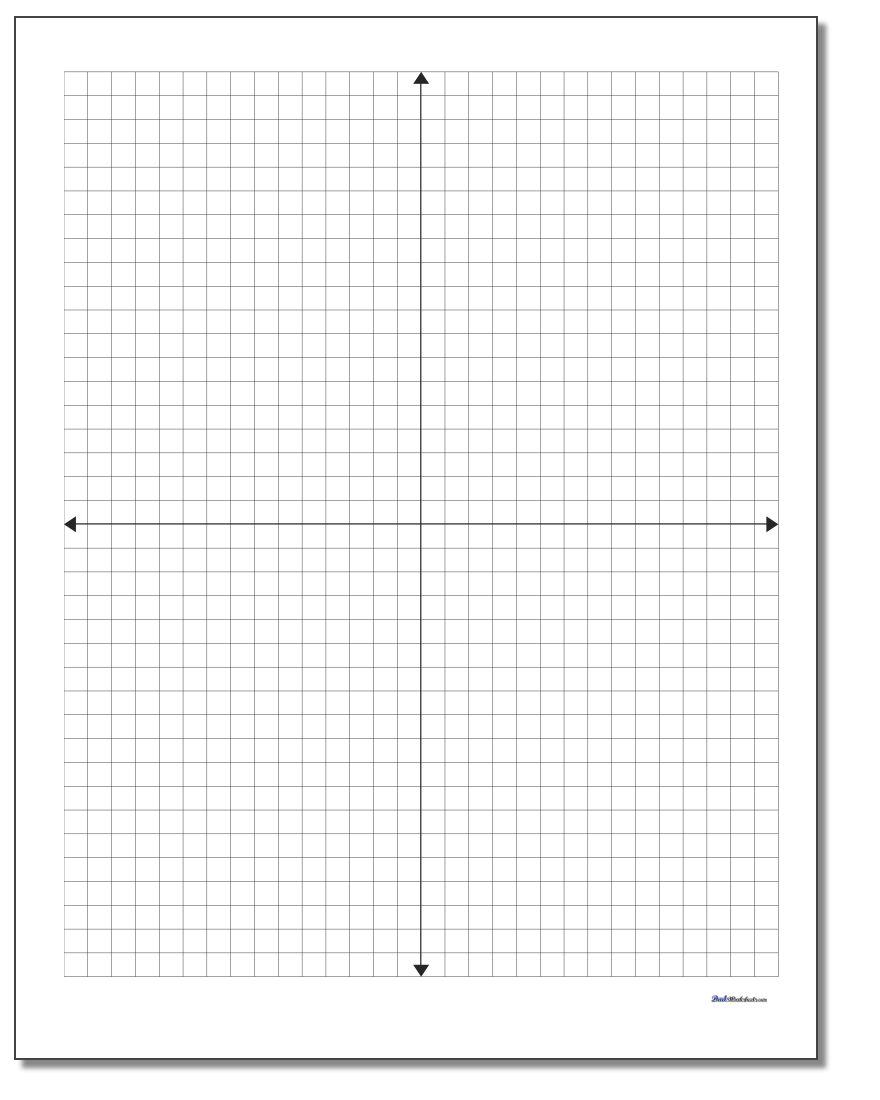 Coordinate Plane - Free Printable Coordinate Grid Worksheets