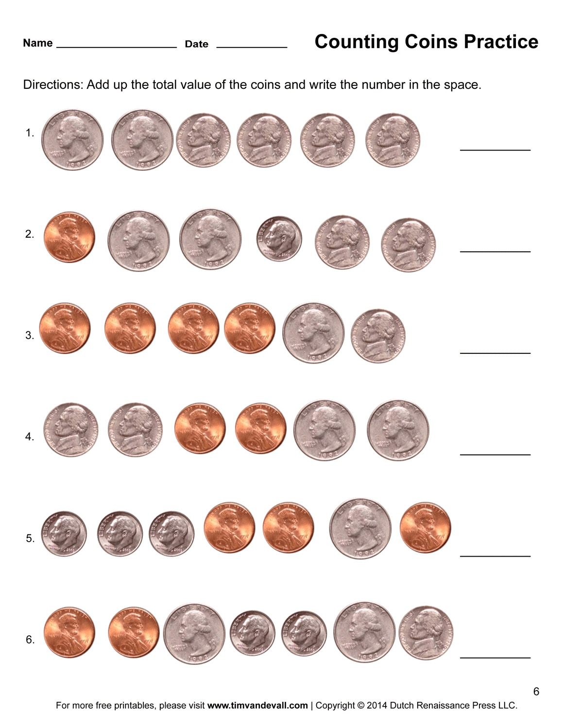 Counting Money Worksheets 1St Grade For Free Download - Math - Free Printable Money Worksheets For 1St Grade