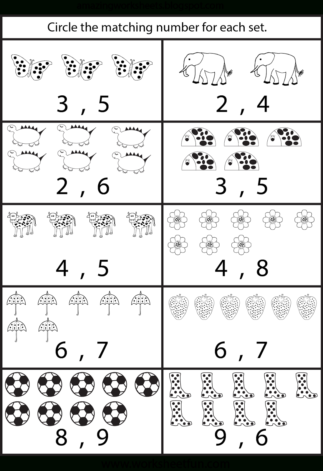Counting Worksheets For Kindergarten … | Learning | Pinte… - Free Printable Number Worksheets For Kindergarten