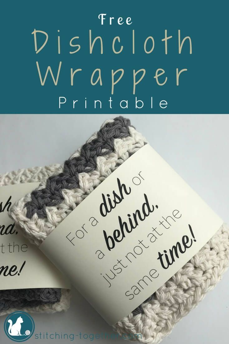 Country Crochet Dishcloth | All About Crochet! | Crochet, Knitting - Free Printable Dishcloth Wrappers