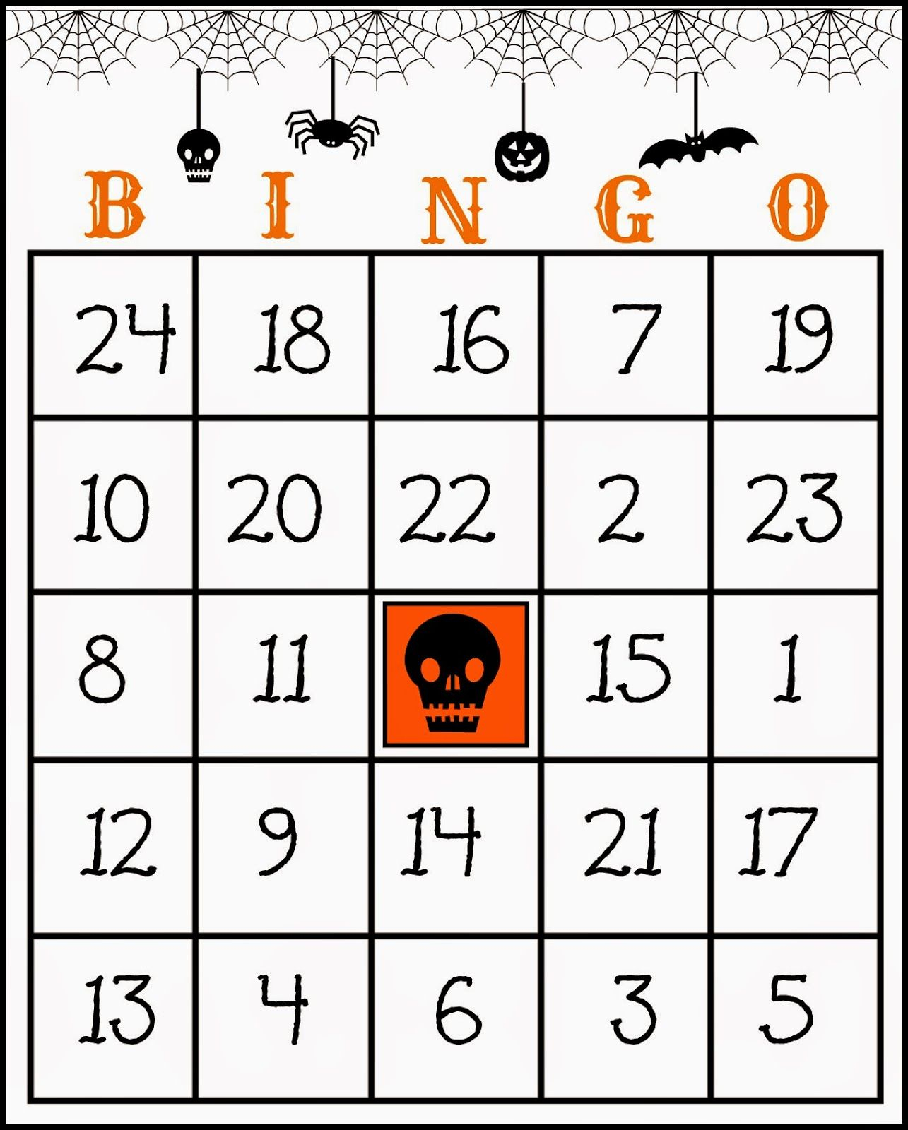 Crafty In Crosby: Free Printable Halloween Bingo Game | Products I - Free Printable Halloween Bingo Cards