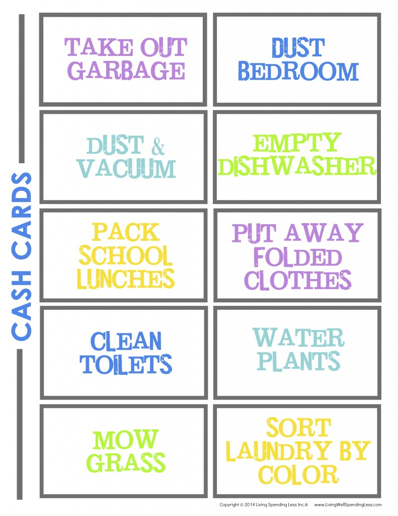 Create A Chore Chart That Works   Free Chore Charts For Kids - Free Printable Chore Chart Ideas