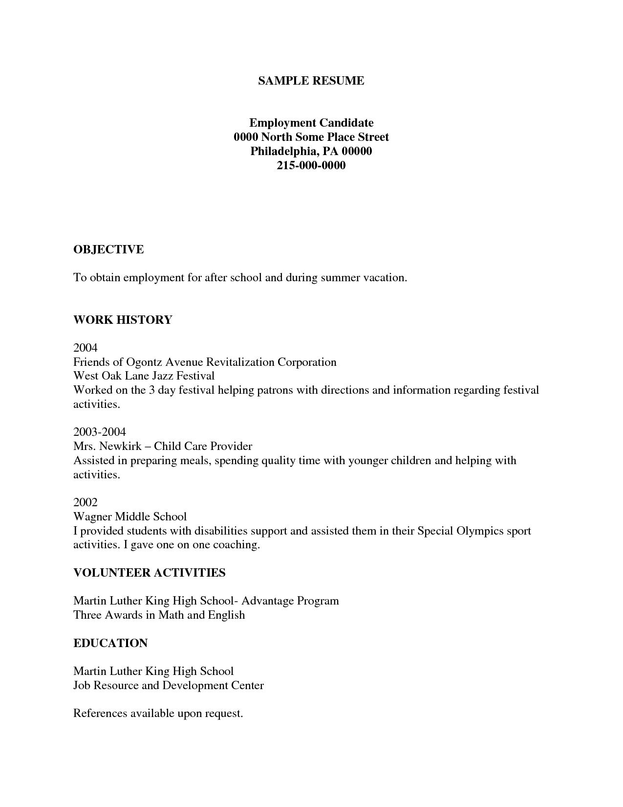 Create A Free Printable Resume   Resume Template Info - Free Printable Resume