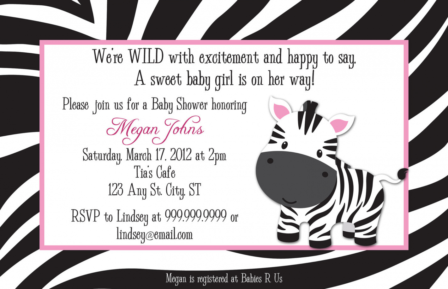 Creative Free Printable Animal Print Birthday Invitations - Free Printable Animal Print Birthday Invitations