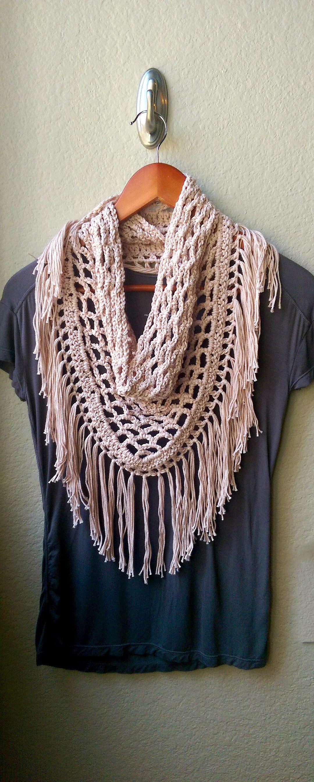 Crochet Scarf Pattern Only, Crochet Triangle Scarf Pattern, Fringe - Free Printable Crochet Scarf Patterns