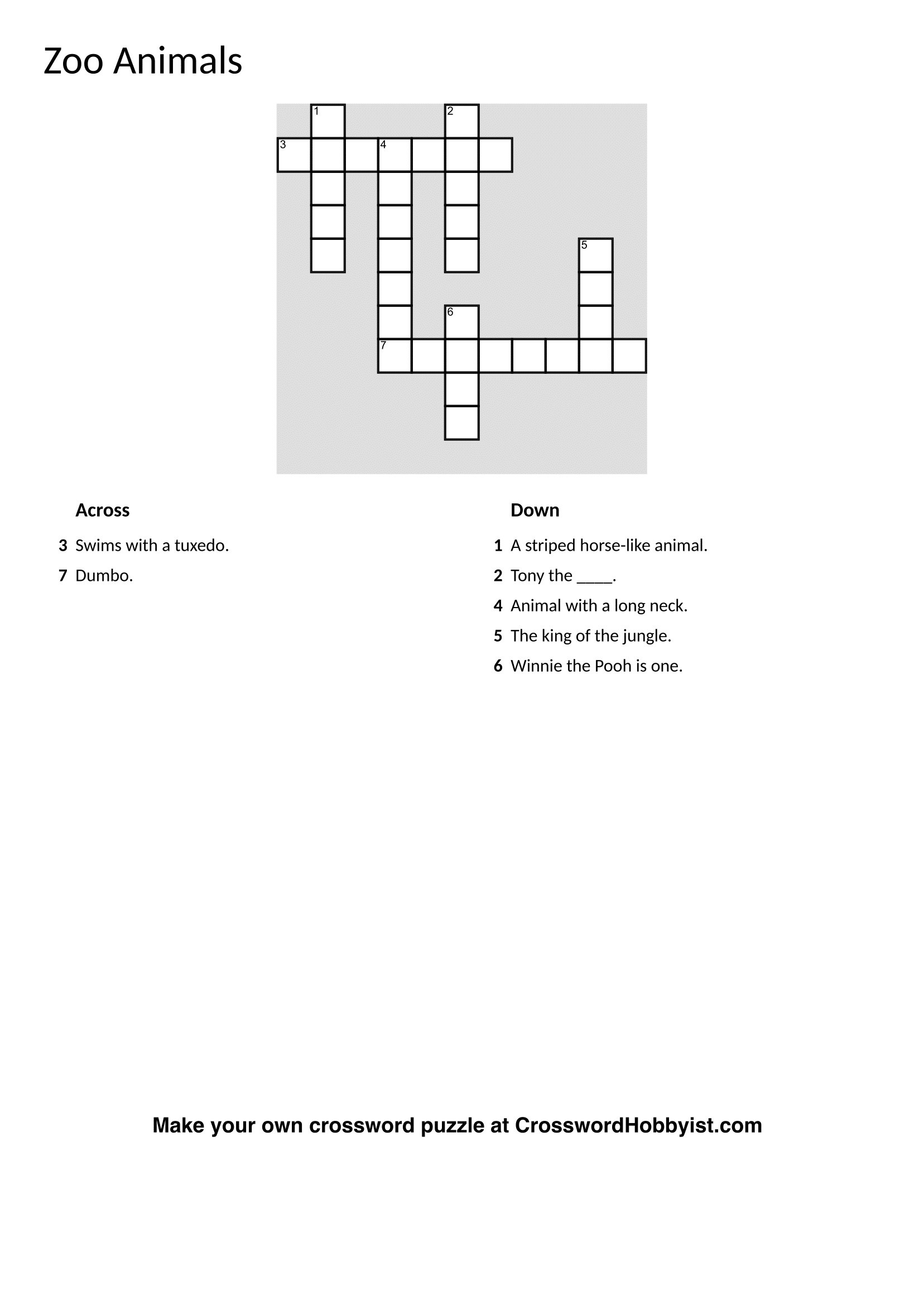Crossword Puzzle Maker Online Free Printable Crosswords Jigsaw - Jigsaw Puzzle Maker Free Online Printable