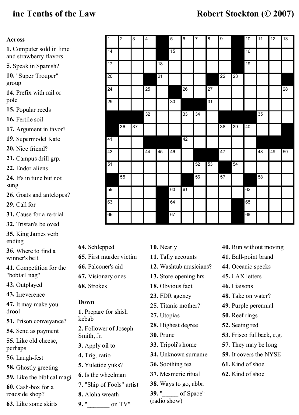 Crossword Puzzles Printable - Yahoo Image Search Results | Crossword - Free Daily Online Printable Crossword Puzzles
