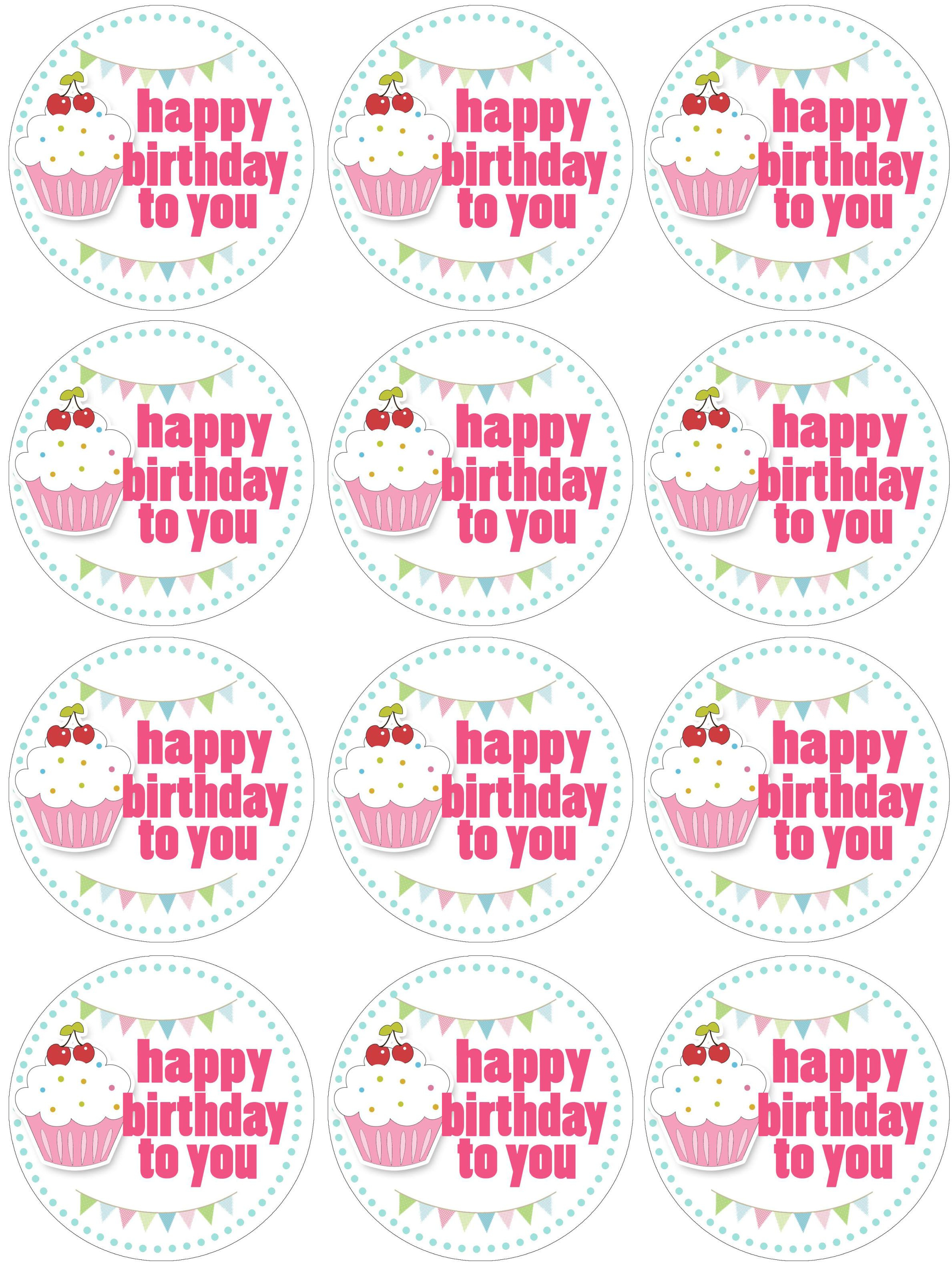 Cupcake Birthday Party With Free Printables | Free Printables - Free Printable Happy Birthday Cake Topper