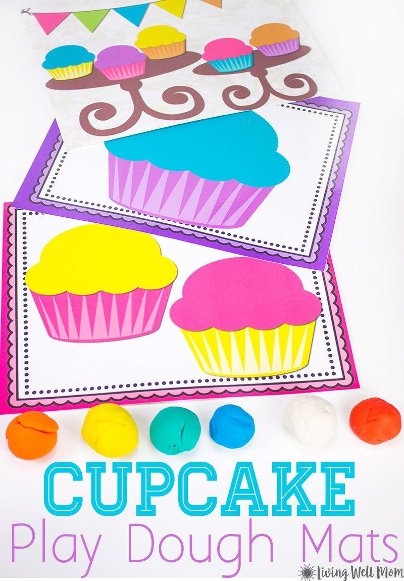 Cupcake Playdough Mats - Free Printable Activity For Kids | Creative - Free Printable Playdough Mats