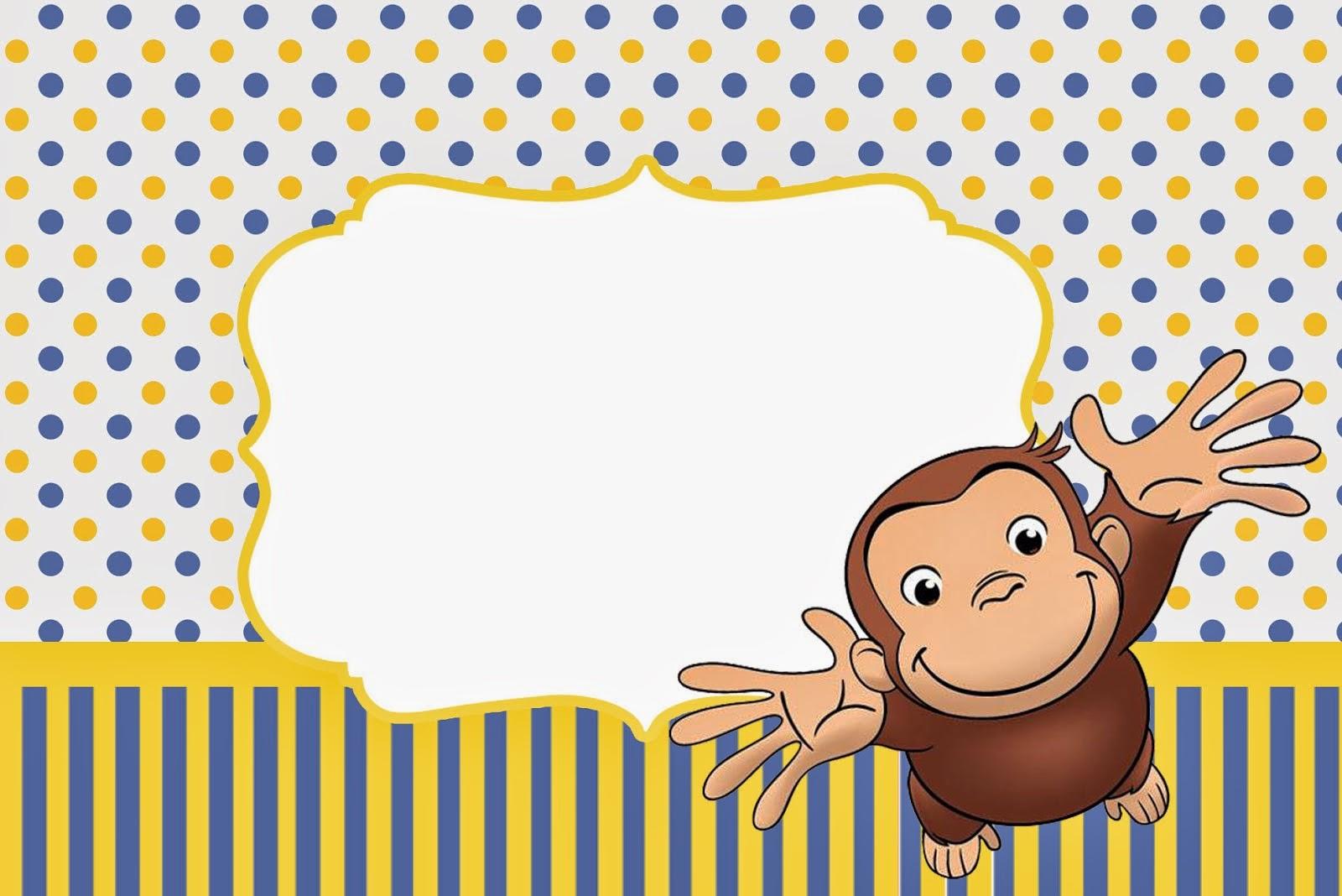 Curious George Free Printable Invitations. | Oh My Fiesta! In English - Free Printable Curious George Invitations