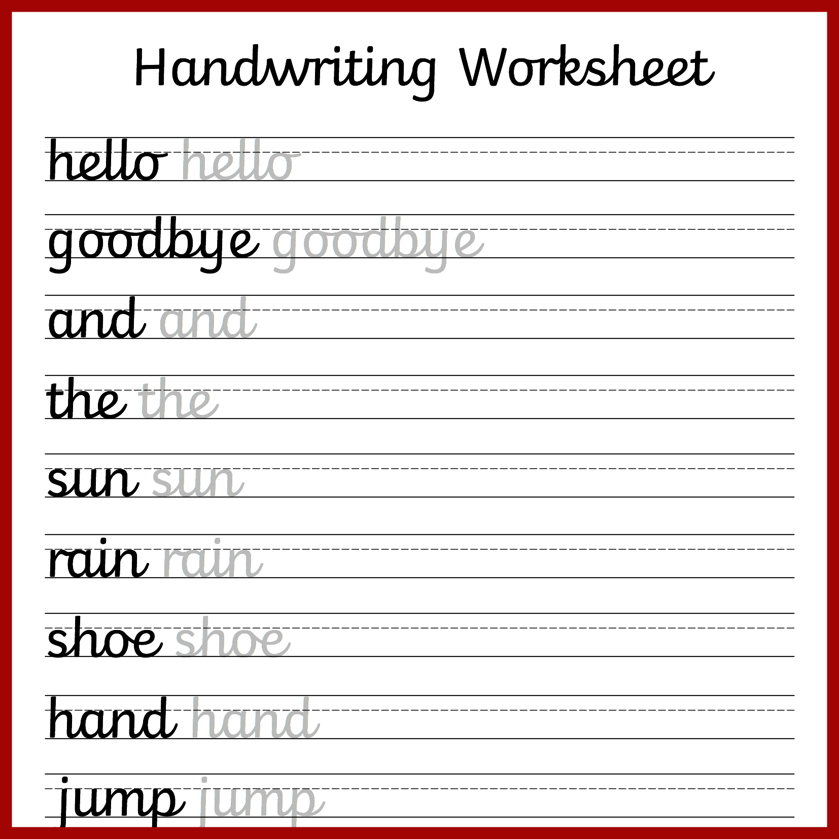 Cursive Handwriting Worksheets – Free Printable! ⋆ Mama Geek - Free Printable Writing Sheets