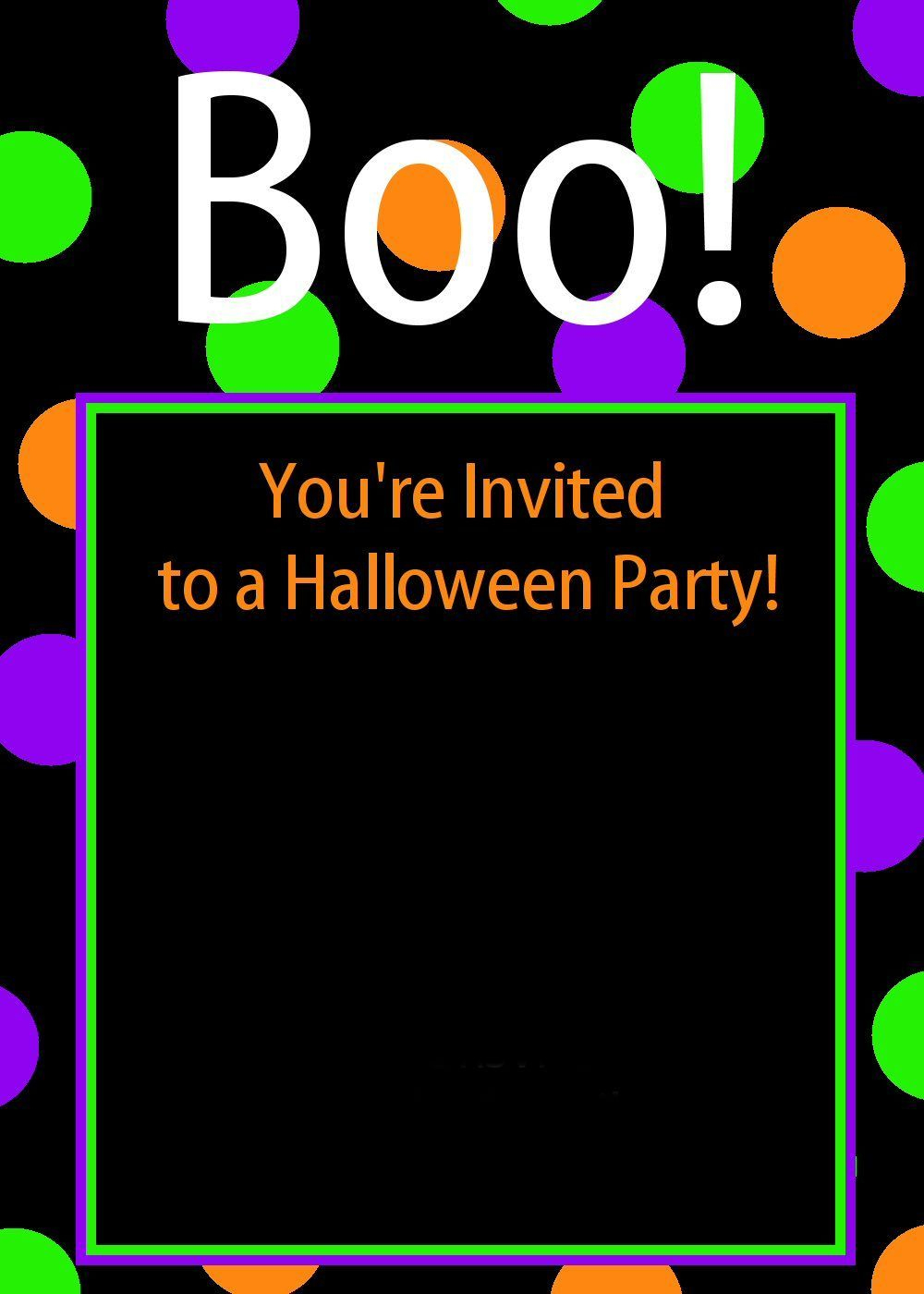 Cute Free Printable Halloween Invitations | Celebrate: Halloween - Free Printable Halloween Birthday Party Invitations