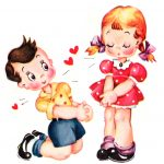 Cute Vintage Valentines Day Clip Art   Free Pretty Things For You   Free Printable Vintage Valentine Pictures