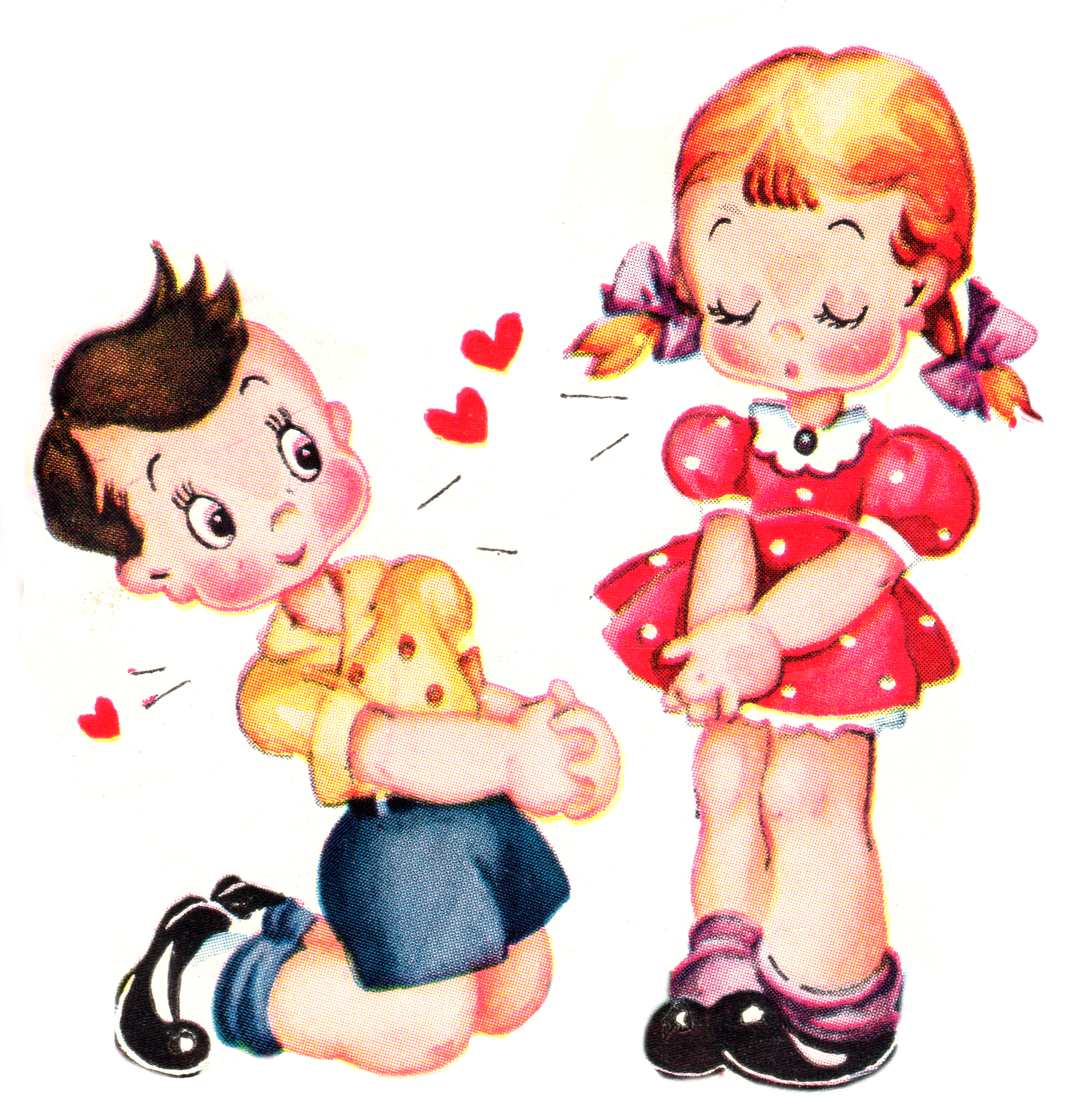 Cute Vintage Valentines Day Clip Art - Free Pretty Things For You - Free Printable Vintage Valentine Pictures