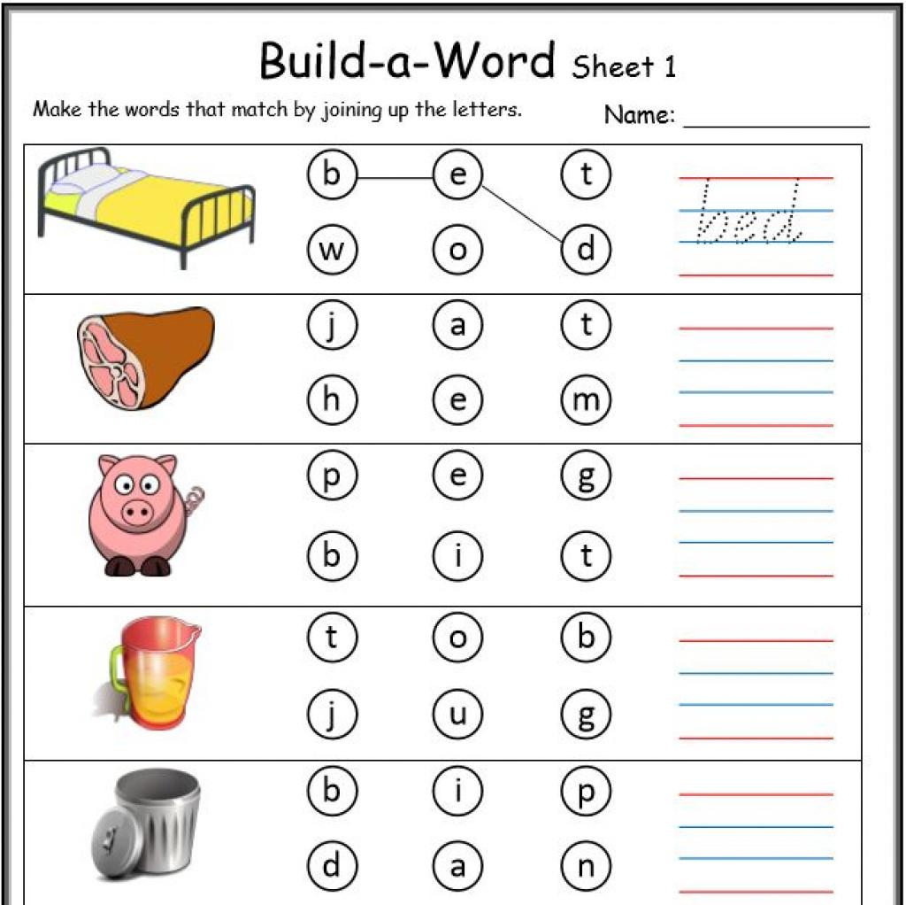 Cvc Worksheets Printable Work Sheets • Keepkidsreading With Regard - Cvc Words Worksheets Free Printable