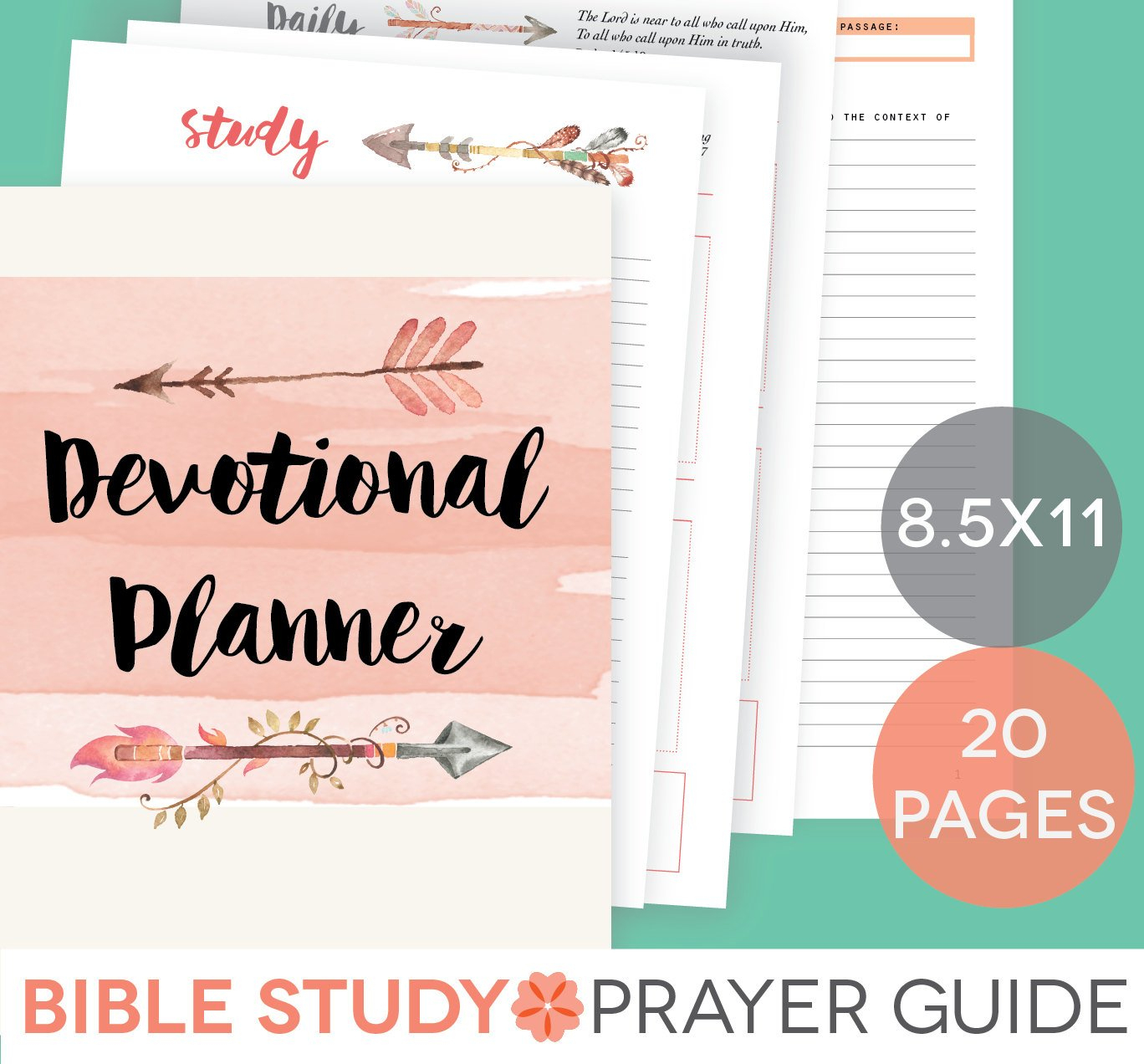 Daily Devotional Printable Set Weekly Bible Study Guide | Etsy - Free Printable Bible Study Guides