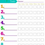 Daily Responsibilities Chart For Kids! Free Printable To Help   Free Printable Chore Chart Templates
