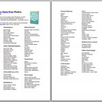 Dairy Free Pantry Stocking Printables With Shopping Lists For All   Gluten Free Food List Printable