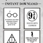 Decorate With Harry Potter Poster Prints. #ad #harrypotter   Free Printable Harry Potter Posters