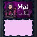 Descendants Mal Invitation Template | Coolest Invitation Templates   Free Printable Descendants Invitations