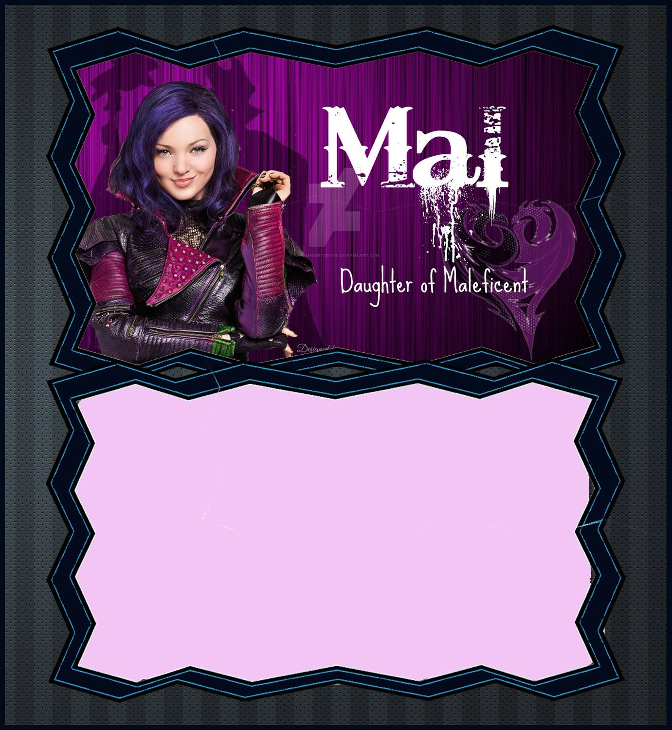 Descendants Mal Invitation Template | Coolest Invitation Templates - Free Printable Descendants Invitations