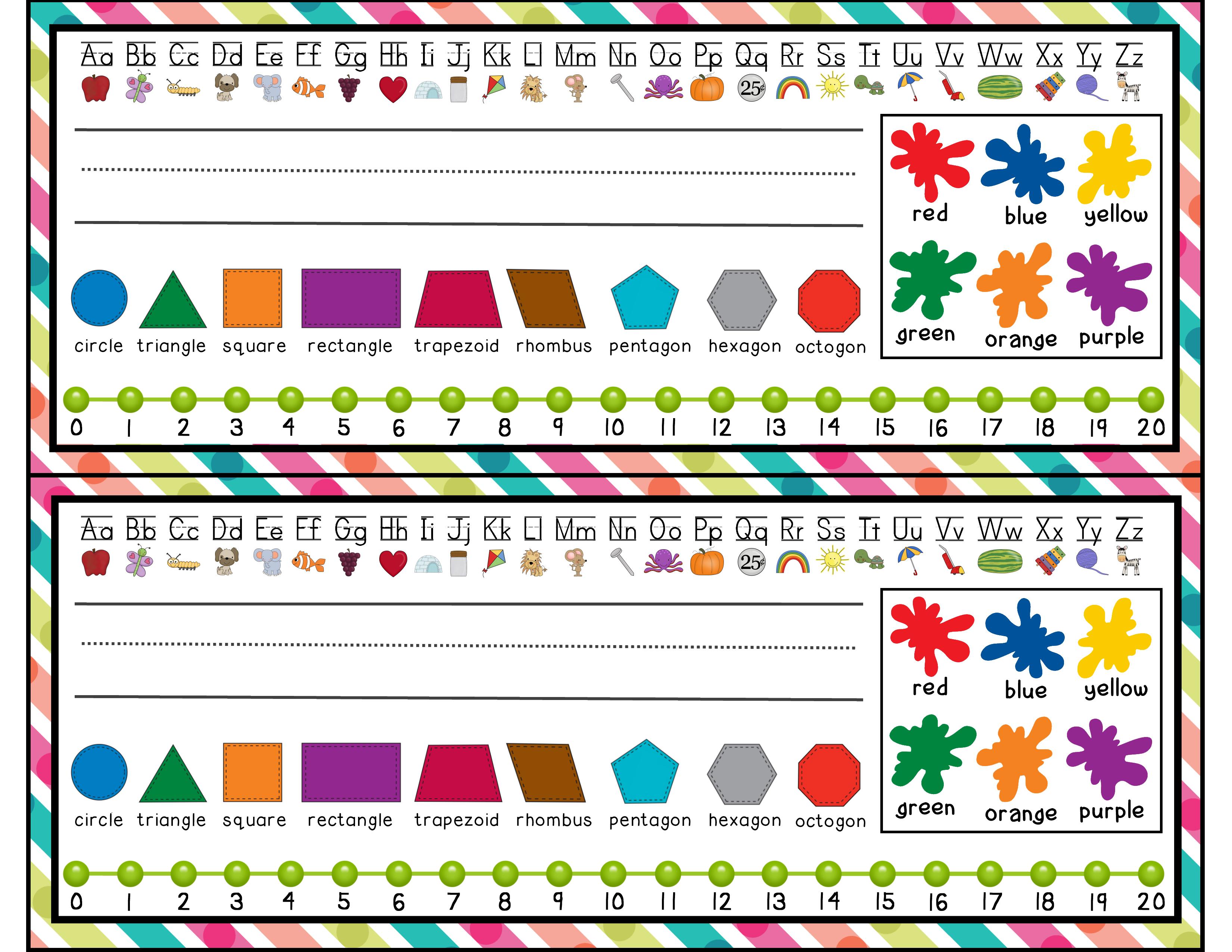 Desk Name Tags For Kindergarten - 2.17.kaartenstemp.nl • - Free Printable Name Tags For Students