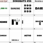 Dingbat & Whatzit Rebus Puzzles #dingbats #whatzits #rebus #puzzle   Free Printable Dingbats Puzzles